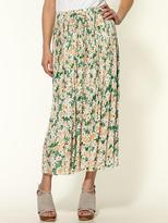 Lucca Couture Pleated Floral Skirt