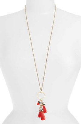 Akola Long Tassel Pendant Necklace