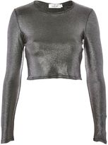 Oh My Love **Metallic Crop Top