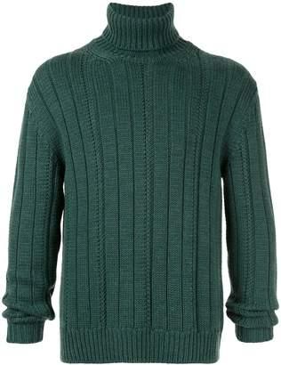 Dondup ribbed knit roll neck jumper