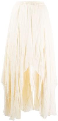 Mes Demoiselles Wrinkled Asymmetric Skirt