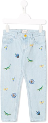 Gucci Kids Embroidered Details Jeans