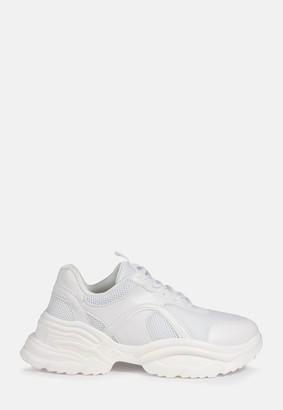 Missguided White Chunky Wave Trainers