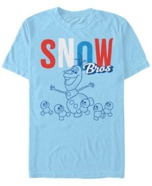 Disney Men's Frozen Olaf Snow Bros, Short Sleeve T-Shirt