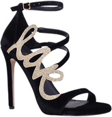 KG by Kurt Geiger Kurt Geiger Hex Stiletto Heeled Sandals, Black