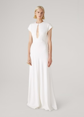 St. John Stretch Cady Gown