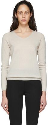 MAX MARA LEISURE Beige Vino V-Neck Sweater