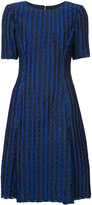 Oscar de la Renta fitted dress - women - Silk/Polyamide/Polyester - 4