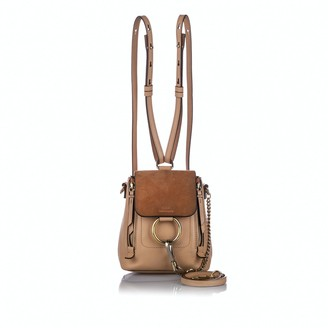 Chloé Brown Leather Backpacks