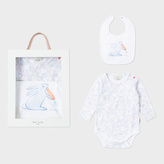 Paul Smith Baby Girls' White 'Rabbit' Print Playwear Set With Squeaker