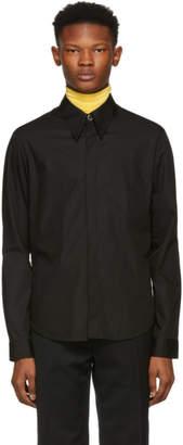 Namacheko Black Hidden Button Shirt
