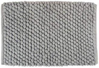 "Design Imports DII Solid Gray Microfiber Bath Mat 17""x24"""