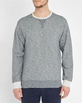 Edwin Mottled-Grey Round-Neck National Sweatshirt