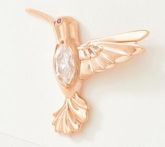 Diamonique Hummingbird Marquise Pin, Sterling Silver