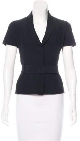 Alexander McQueen Notch-Lapel Short Sleeve Jacket