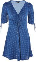 Topshop Spot ruched tea dress