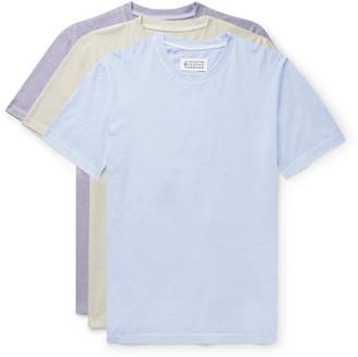 Maison Margiela Three-Pack Garment-Dyed Cotton-Jersey T-Shirts