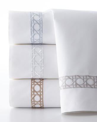 Sferra Queen 4-Piece Cane-Embroidered 400 Thread-Count Sheet Set