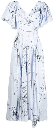 Alexander McQueen Sketch Print Dress