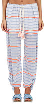 Lemlem Women's Aden Striped Gauze Pants-WHITE