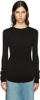 Helmut Lang Black Long Sleeve T-Shirt