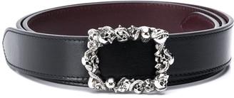 Alexander McQueen Skull-Buckle Belt