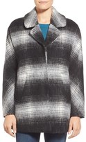Sam Edelman Women's 'Erin' Blurry Plaid Coat