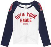 PINK Boston Red Sox Split-Neck Baseball Tee