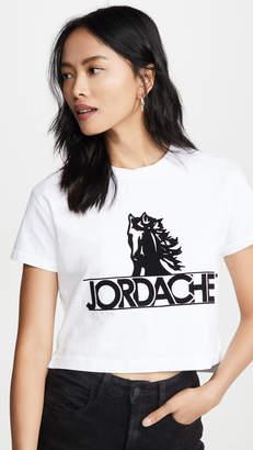 Jordache Crop Horse Logo Tee
