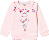 Kenzo Pink Embroidered and Print Necklace Effect Sweatshirt