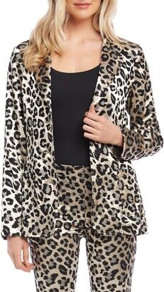 Karen Kane Leopard Jacquard Blazer