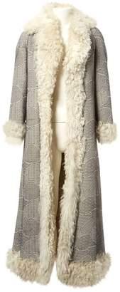 Christian Dior Black Shearling Coats