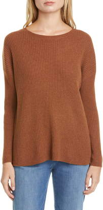 Eileen Fisher Ribbed Cashmere Box Sweater