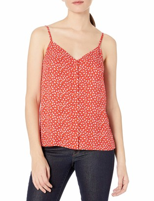 Goodthreads Amazon Brand Women's Fluid Twill Button-Front Cami