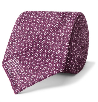 Thom Sweeney 7cm Cotton-Jacquard Tie