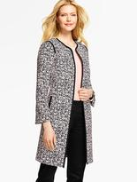 Talbots Abstract Jungle Jacquard Topper