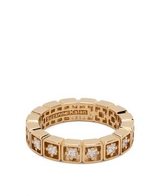 Suzanne Kalan 18kt yellow gold diamond inlay Eternity band ring