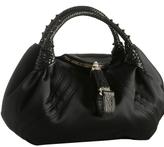black stitched satin 'Spy' bag