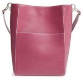 Lodis Berta Leather Bucket Bag - Purple