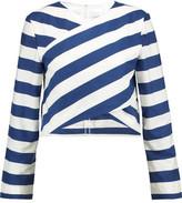 SOLACE London Seren Wrap-Effect Striped Cotton Top