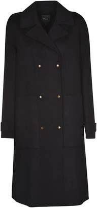 Theory New Divide Luxe Double Breasted Coat