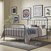 Cavaillon Standard Bed Lark Manor Color: Blue, Size: Full