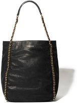 Karen Millen Chain Leather Tote Bag