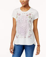 Style&Co. Style & Co High-Low Graphic T-Shirt, Created for Macy's