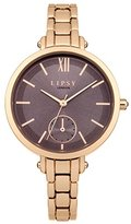 Lipsy Women's Quartz Watch with Grey Dial Analogue Display and Rose Gold Alloy Bracelet LP415
