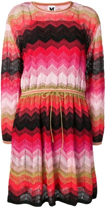 M Missoni Zigzag Knit Jumper Dress