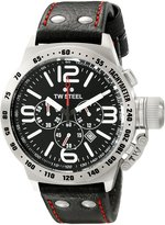TW Steel Men's TW78 Canteen Leather Chronograph Dial Watch
