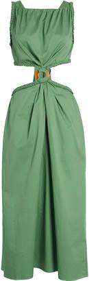 Johanna Ortiz Rowboat Cut-Out Cotton Dress