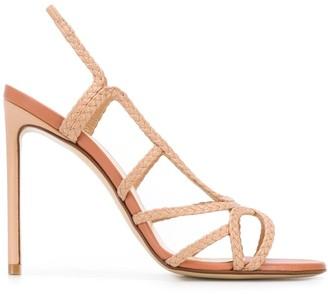 Francesco Russo Braided Open Toe Sandals