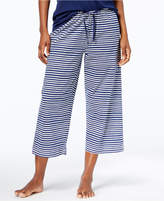 Hue Sweet Stripe Cotton Capri Pajama Pants